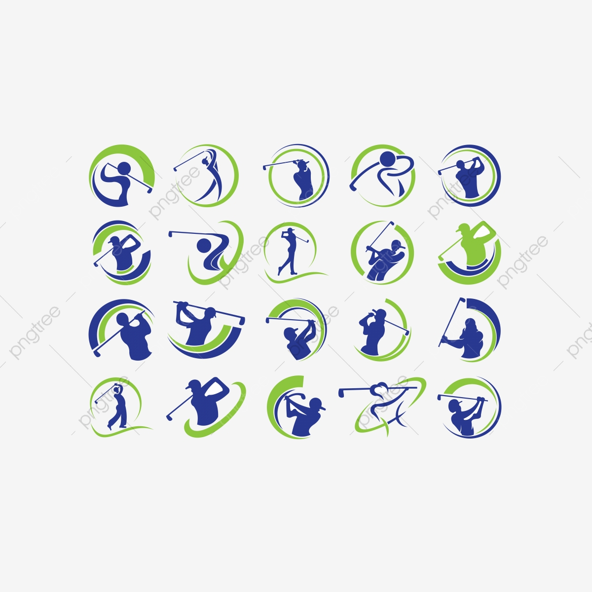 Golf Player Hits Ball Inspiration Logo Design Vector Golf Club Logo Icons Club Icons Golf Icons Png And Vector With Transparent Background For Free Download