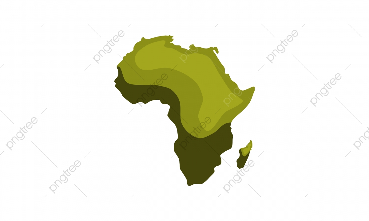 Green Image Of Modern Africa Map, Africa, Cartography, Direction PNG ...