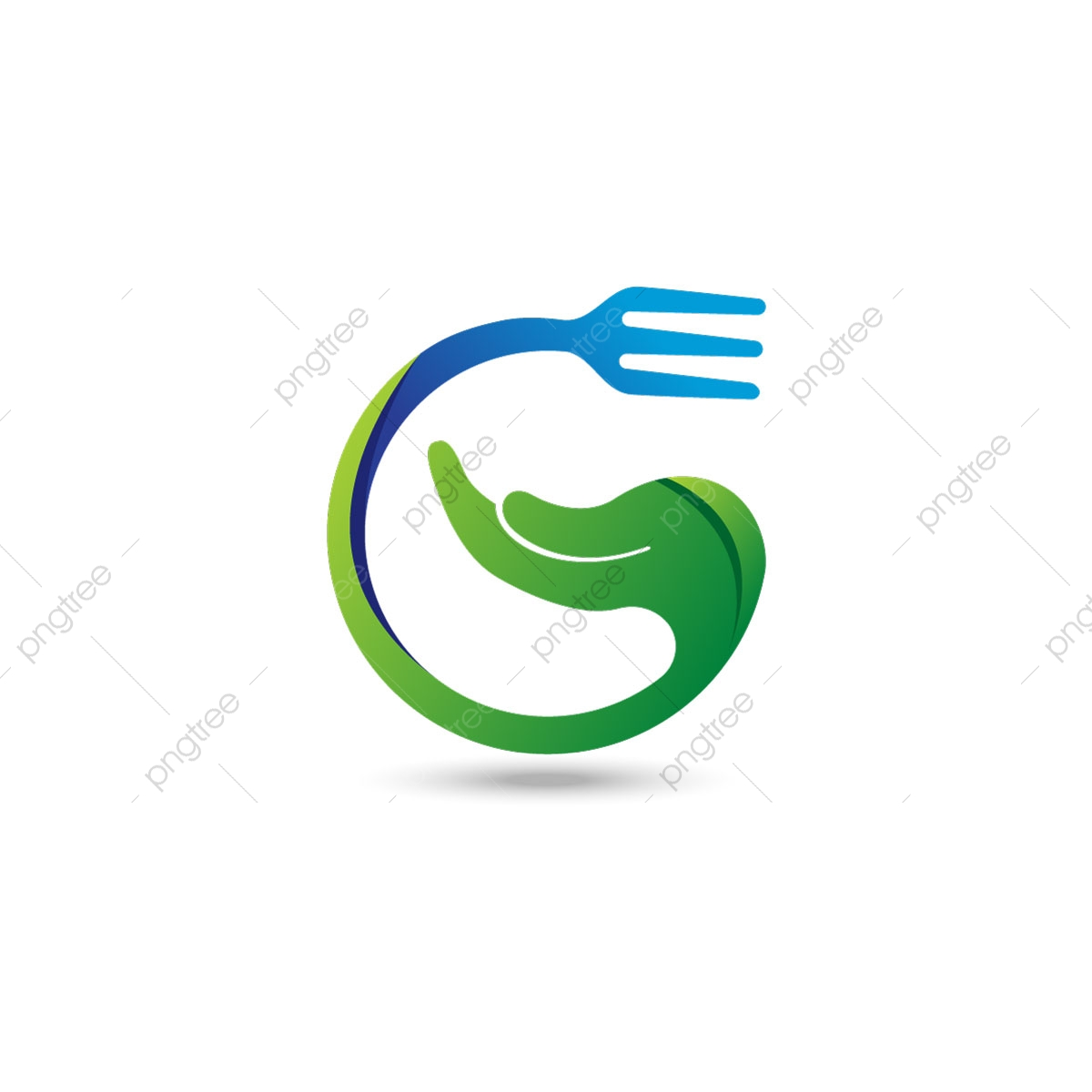 Hand Care Logo Fork And Hand Symbol Healthy Icon Logo Care Hand Png And Vector With Transparent Background For Free Download