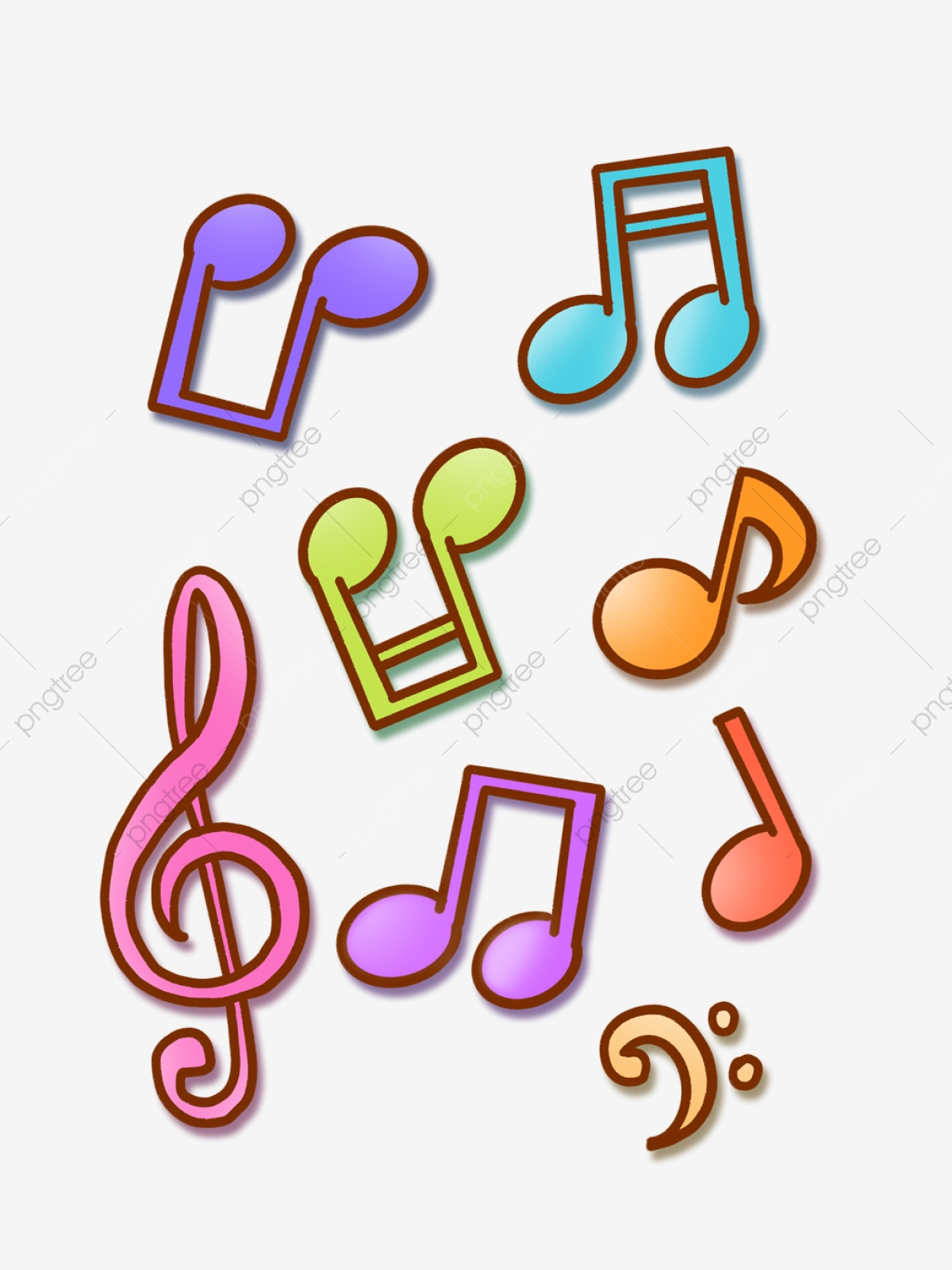 cartoon music musical notes symbols colorful notas clipart hand musicales musicais symbol coloridas splash drawn simbolos drawing crayon clip commercial