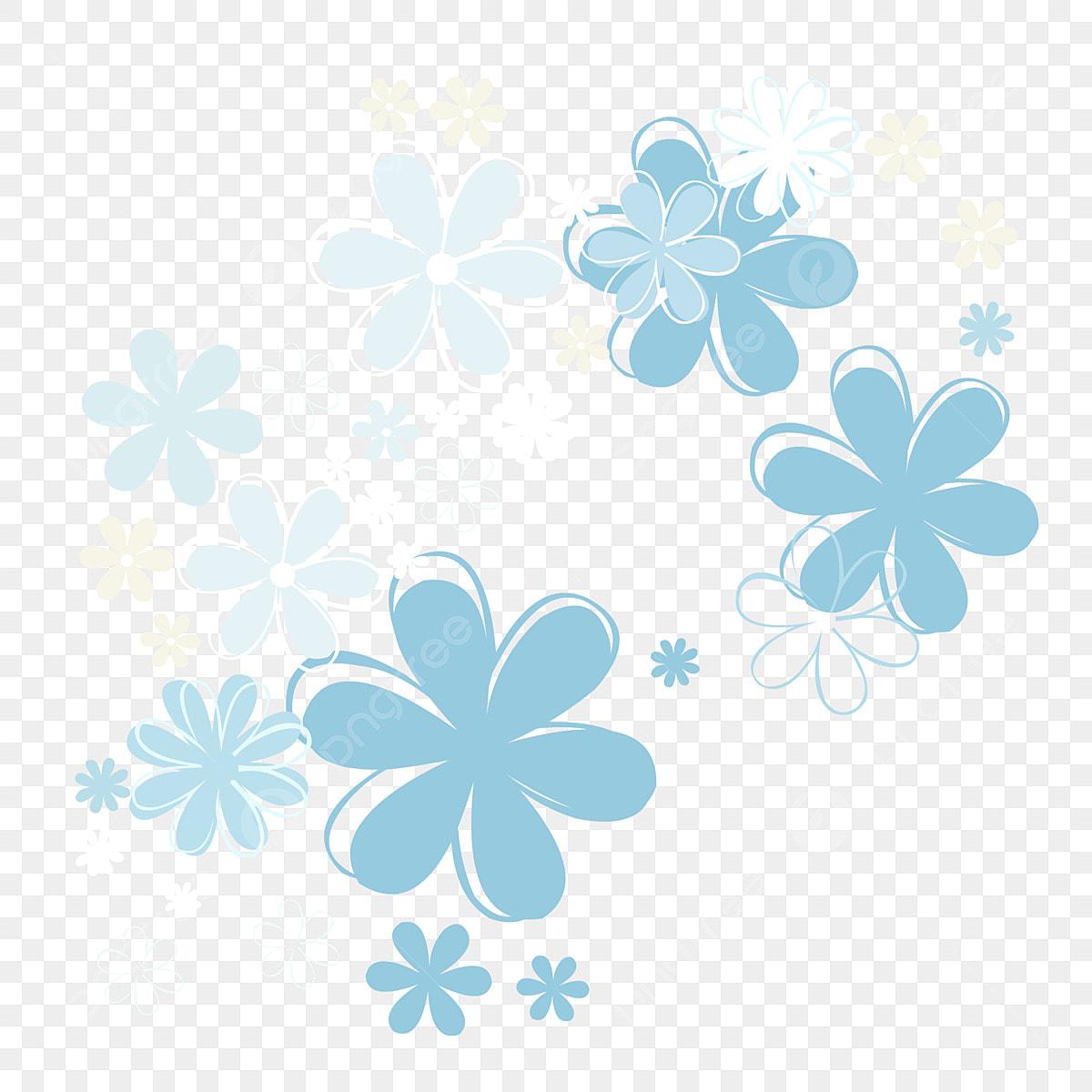 Petalas De Flores Mao Desenhada Dos Desenhos Animados Flutuando
