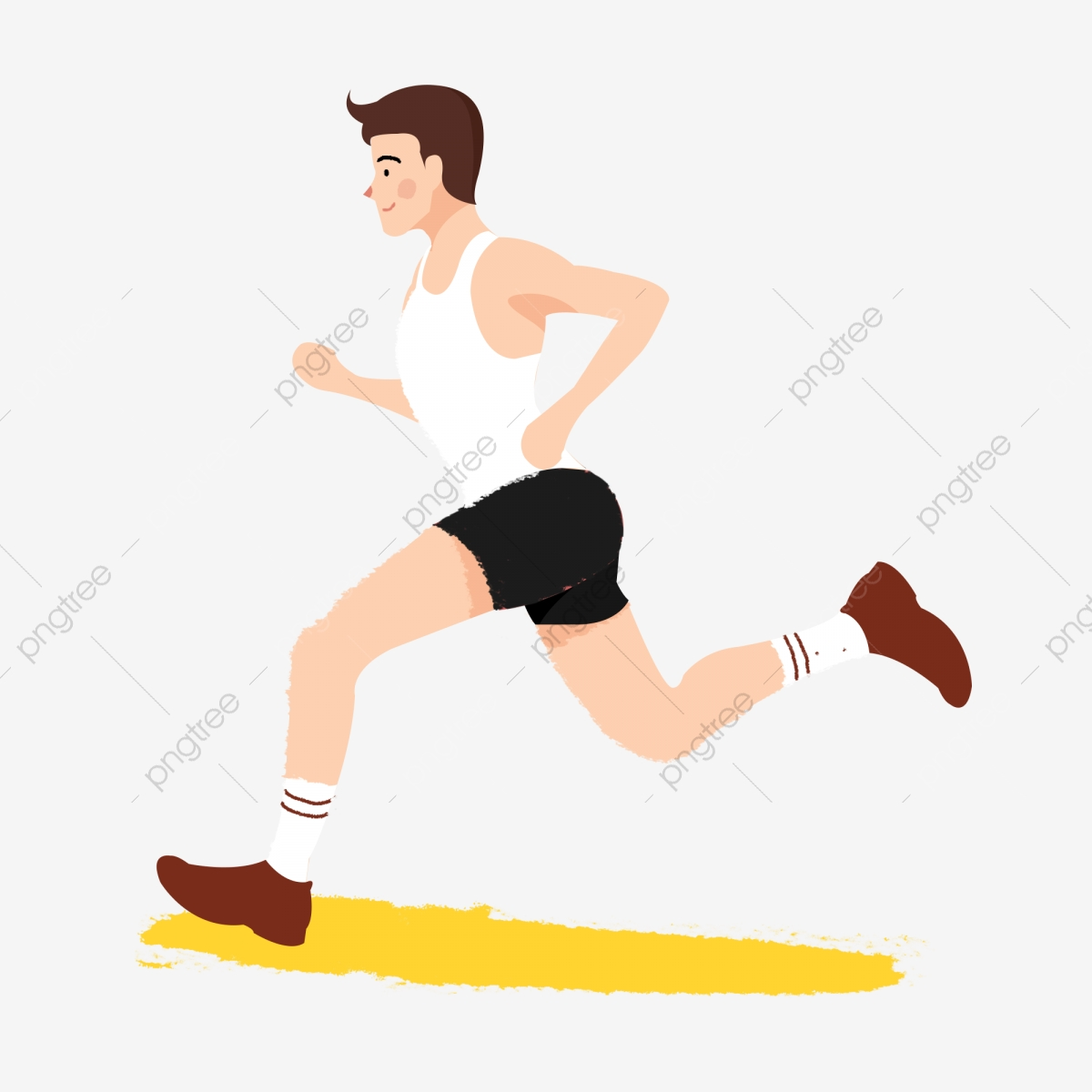 Hand Drawn Cartoon Running Male Athlete In Fitness Morning Exercise Hand Painted Cartoon Run Png Transparent Clipart Image And Psd File For Free Download