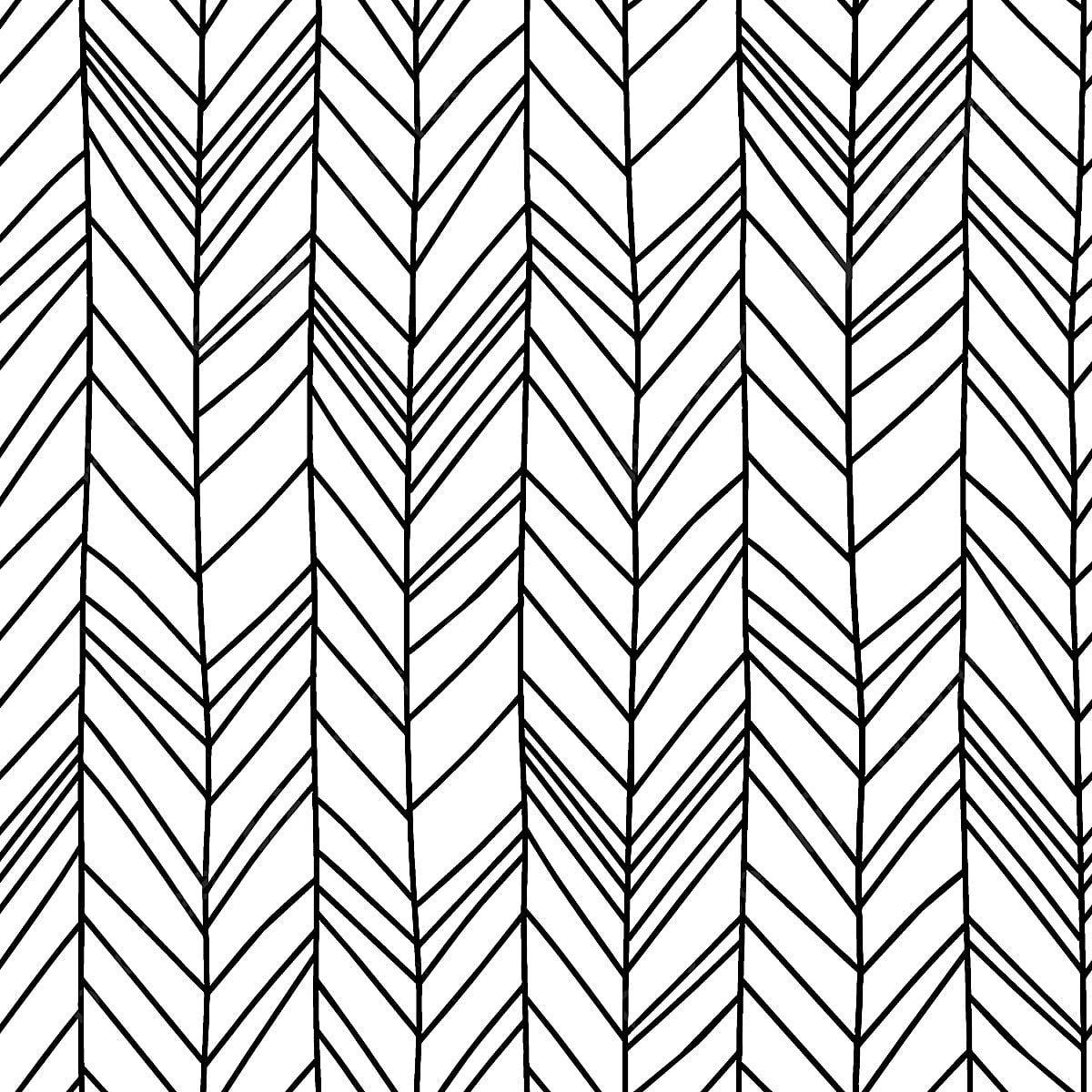 Hand Drawn Chevron Herringbone Seamless Pattern With