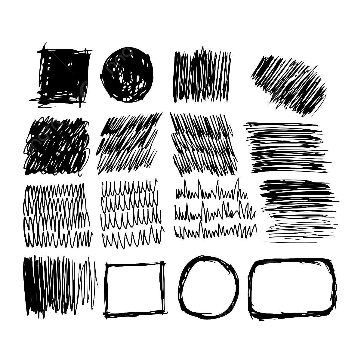 Tangan Ditarik Dakwat Sketsa Garis Abstrak Seni Seni PNG