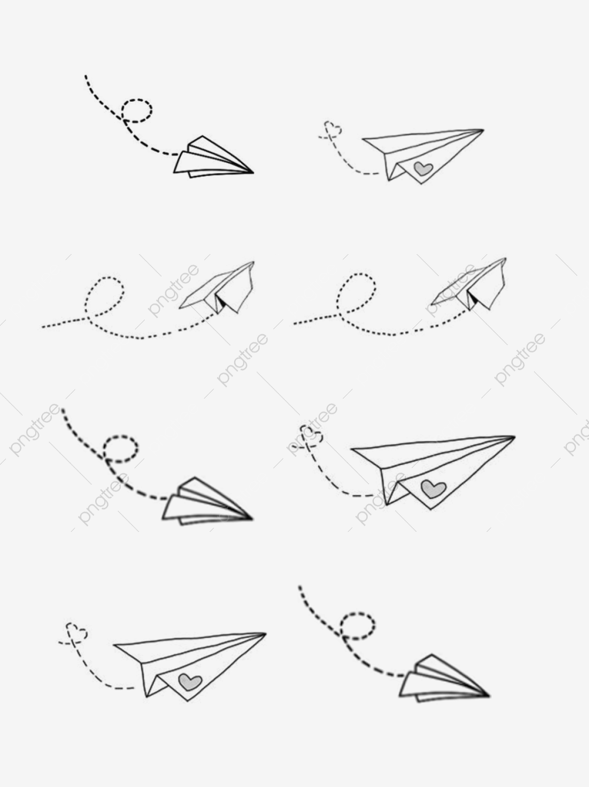 Hand Drawn Literary Cartoon Paper Airplane Elements Cartoon