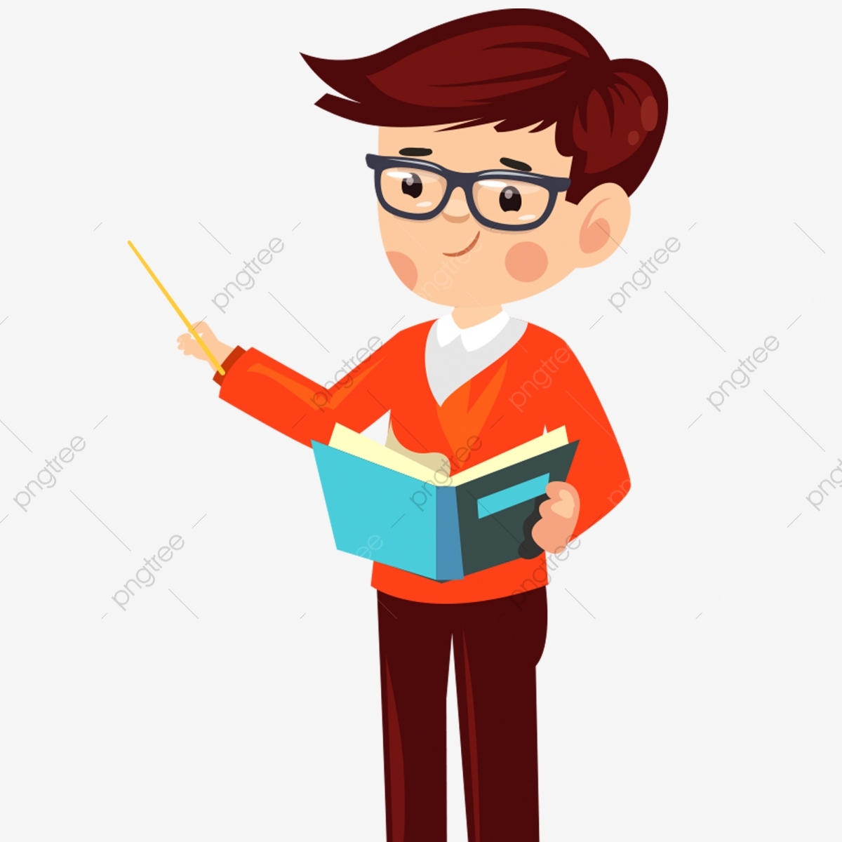 Hand Drawn Short Hair Teacher Decorative Elements Teacher Clipart Teacher Men Png Transparent Clipart Image And Psd File For Free Download