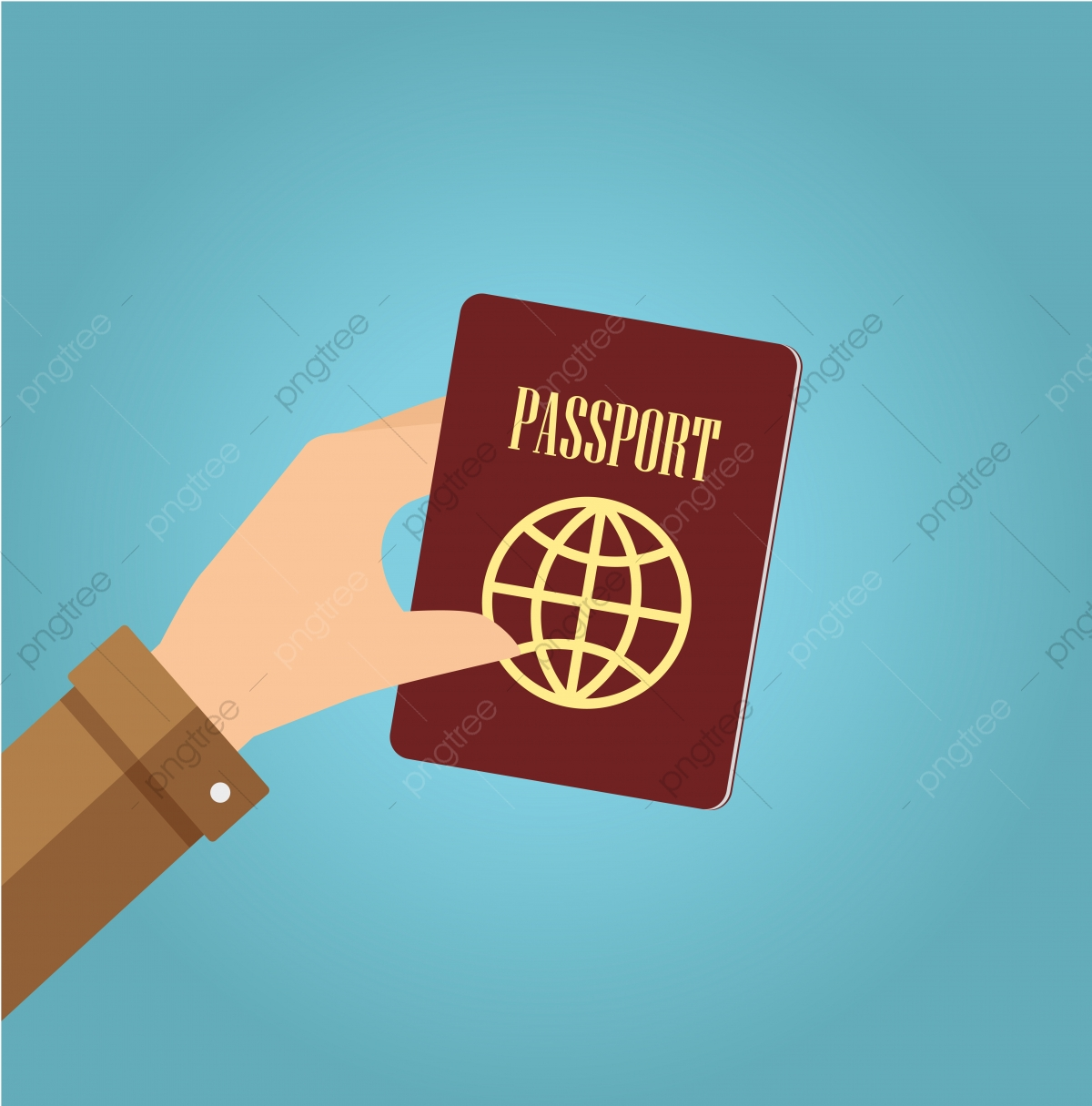 Hand Holding Passport Fly Document Take Png And Vector