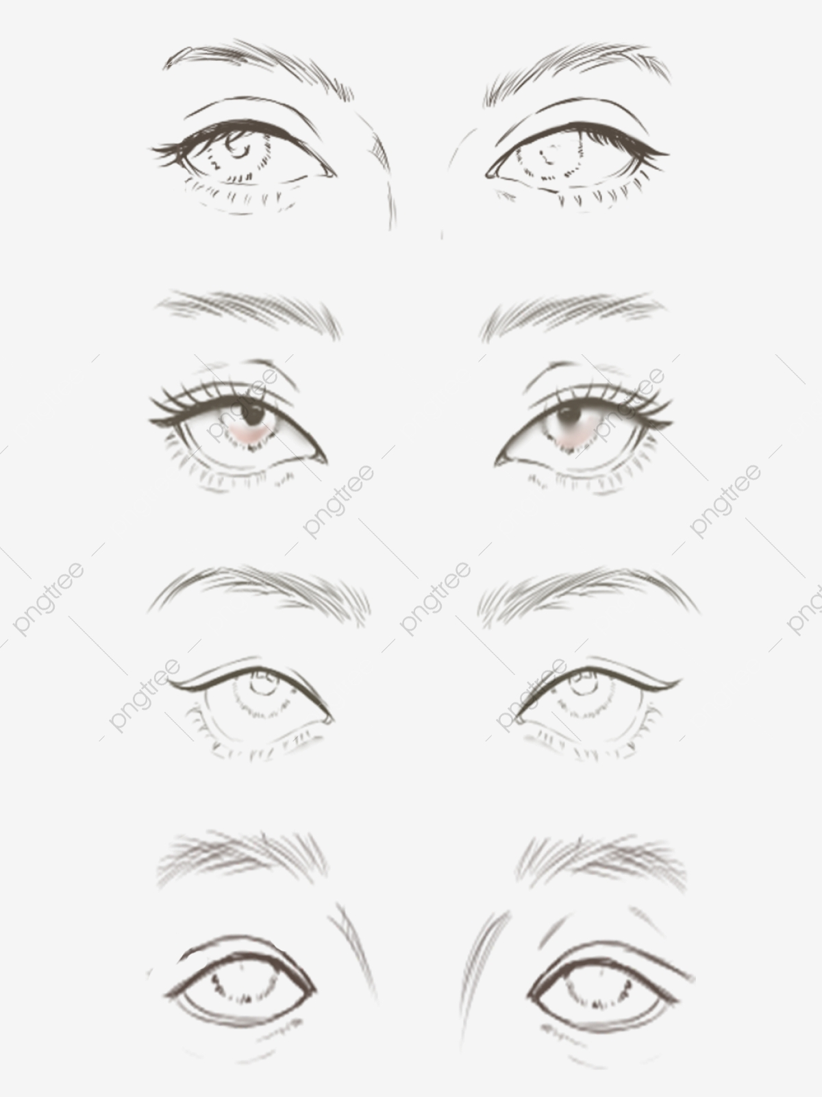 Hand painted eyes eyebrow makeup facial features fashion
