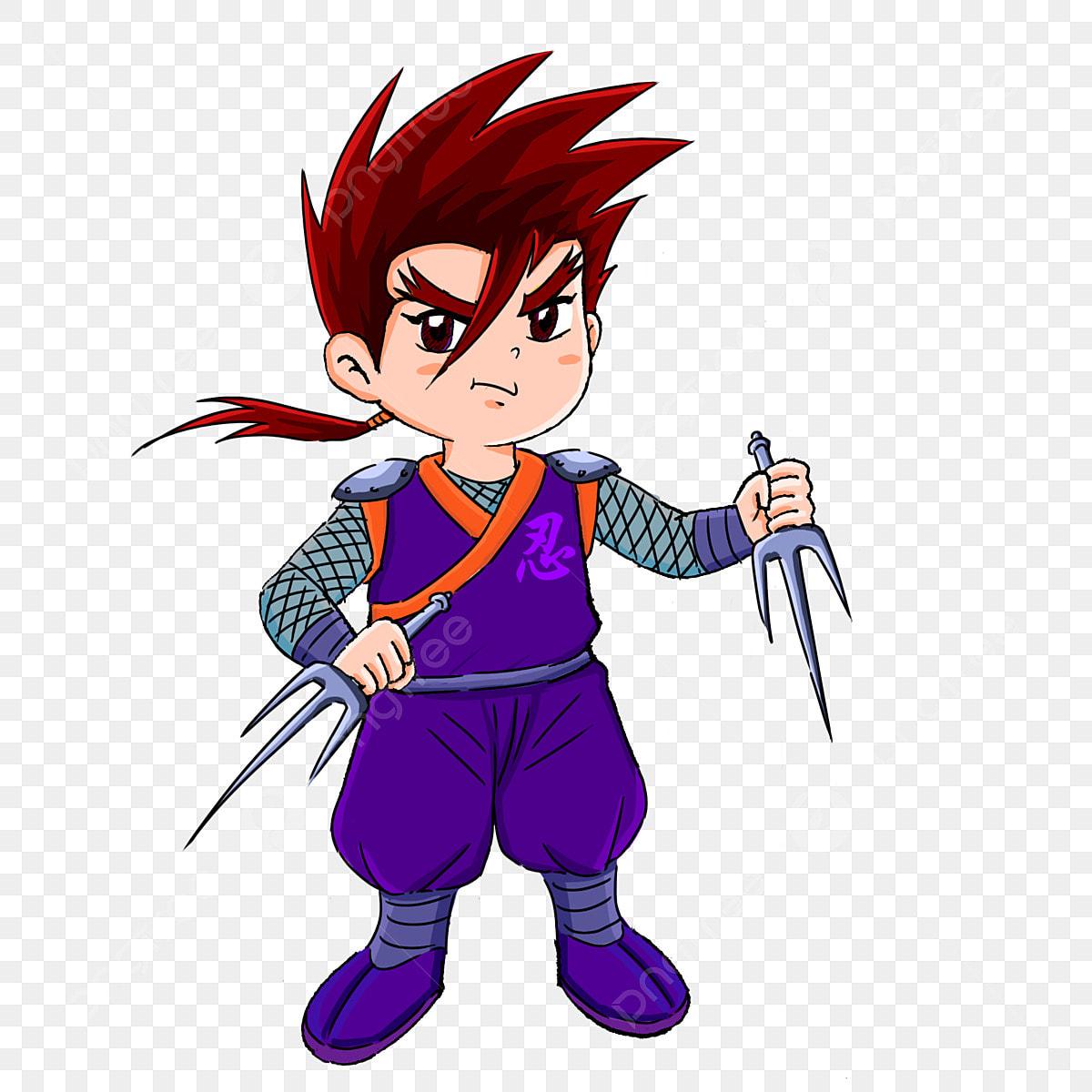 Tangan Ditarik Remaja Ninja Gaya Jepun Ninjutsu Ninja