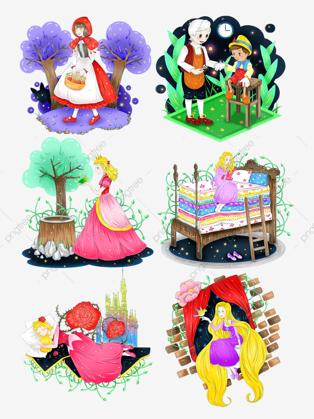 Hand Painted Fairy Tale Cartoon Character Image Can Be