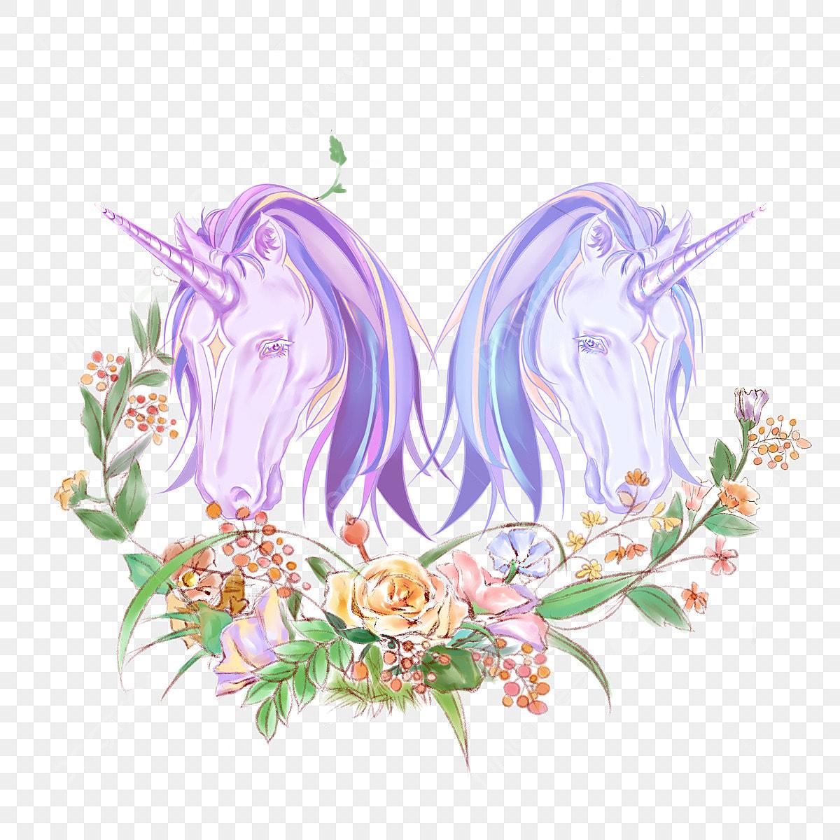 licorne floral element l u00e9gende  u00e9toile dream fichier png et