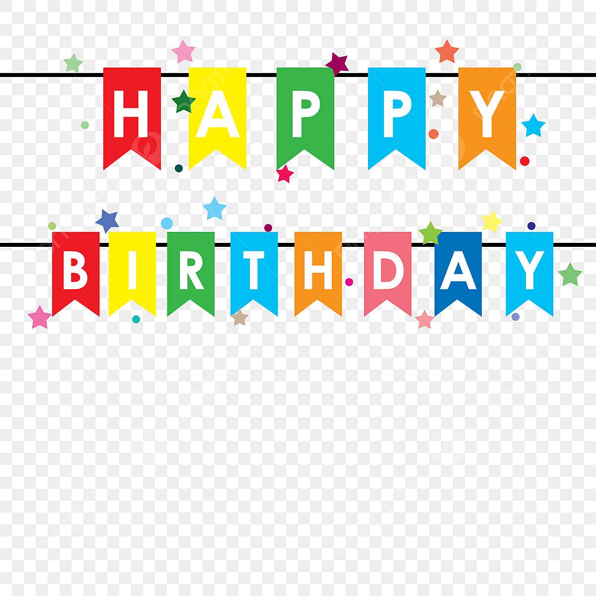 Happy Birthday Banner Birthday Happy Vector Png Transparent
