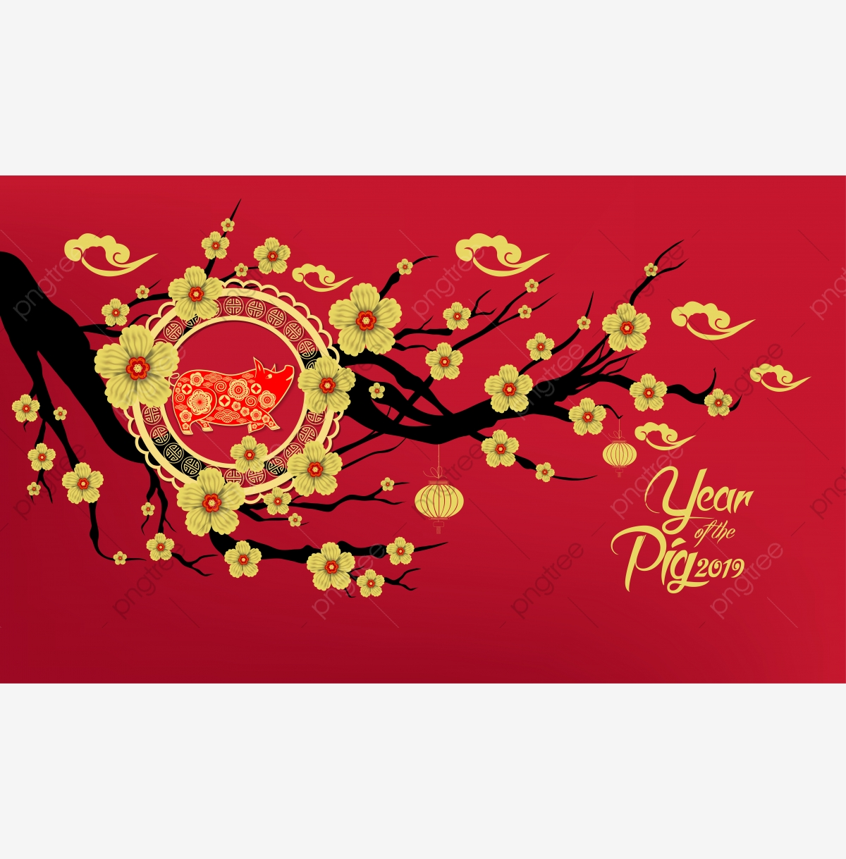 Happy Chinese New Year 2019 Year Of The Cut Style Zodiac For