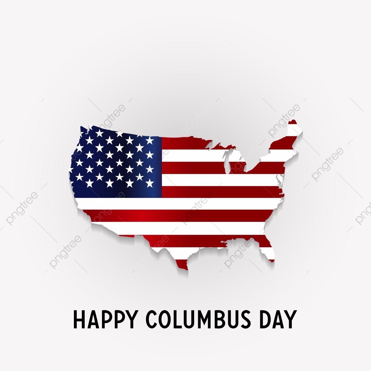 ハッピーコロンブス記念日国立アメリカの休日のアメリカの国旗の平らな