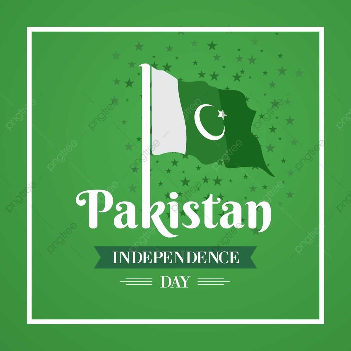 Happy Independence Day 14 August Pakistan Greeting Card Pakistan Flag Of Pakistan Stars Png And Vector With Transparent Background For Free Download