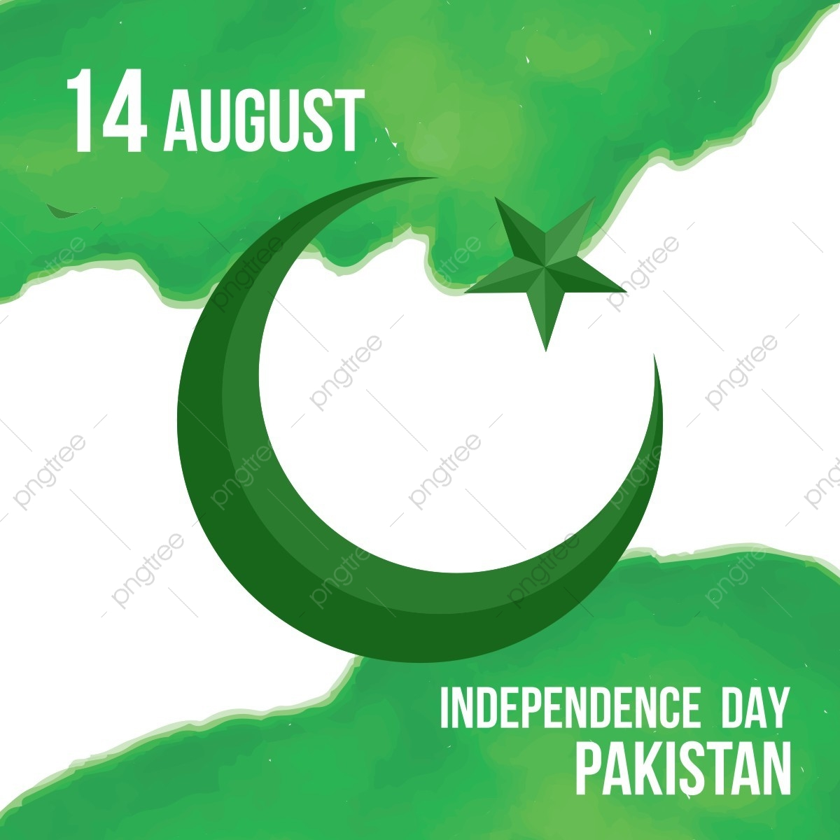 Happy Independence Day 14 August Pakistan Greeting Card Pakistan August 14 Flag Of Pakistan Png And Vector With Transparent Background For Free Download