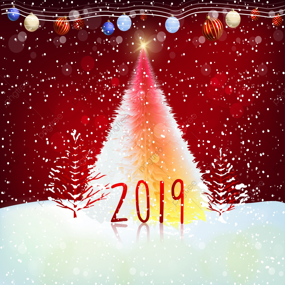 Mery Christmas.Happy New Year 2019 And Mery Christmas Chinese New Year