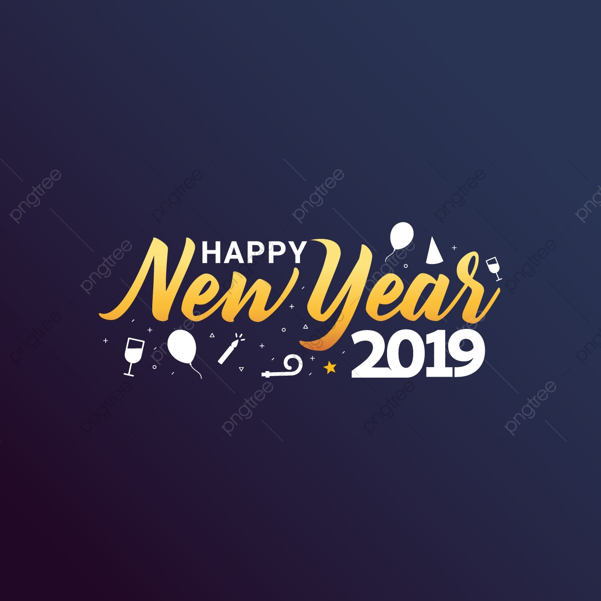 Happy New Year 2019 Png Images Vector And Psd Files Free Download On Pngtree Here you can explore hq happy new year transparent illustrations, icons and clipart with filter setting like size, type, color etc. https pngtree com freepng happy new year 2019 greeting card with trendy background illustration 3690843 html