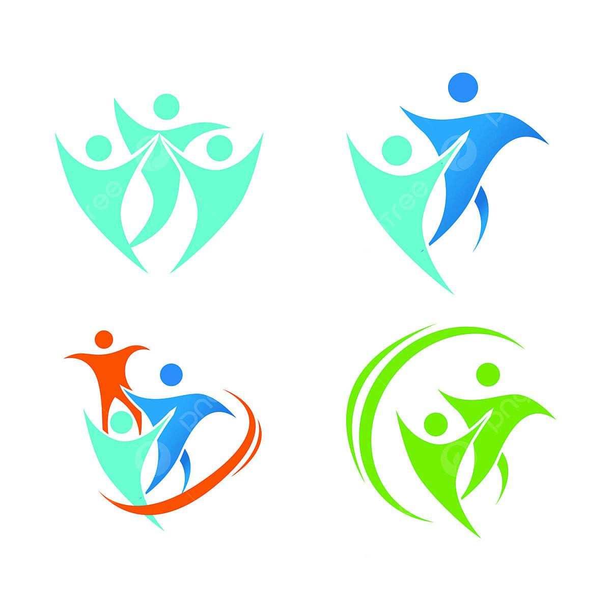 6a59148ad8d6 здоровье людей прав компании векторного логотипа творческих шаблон ...