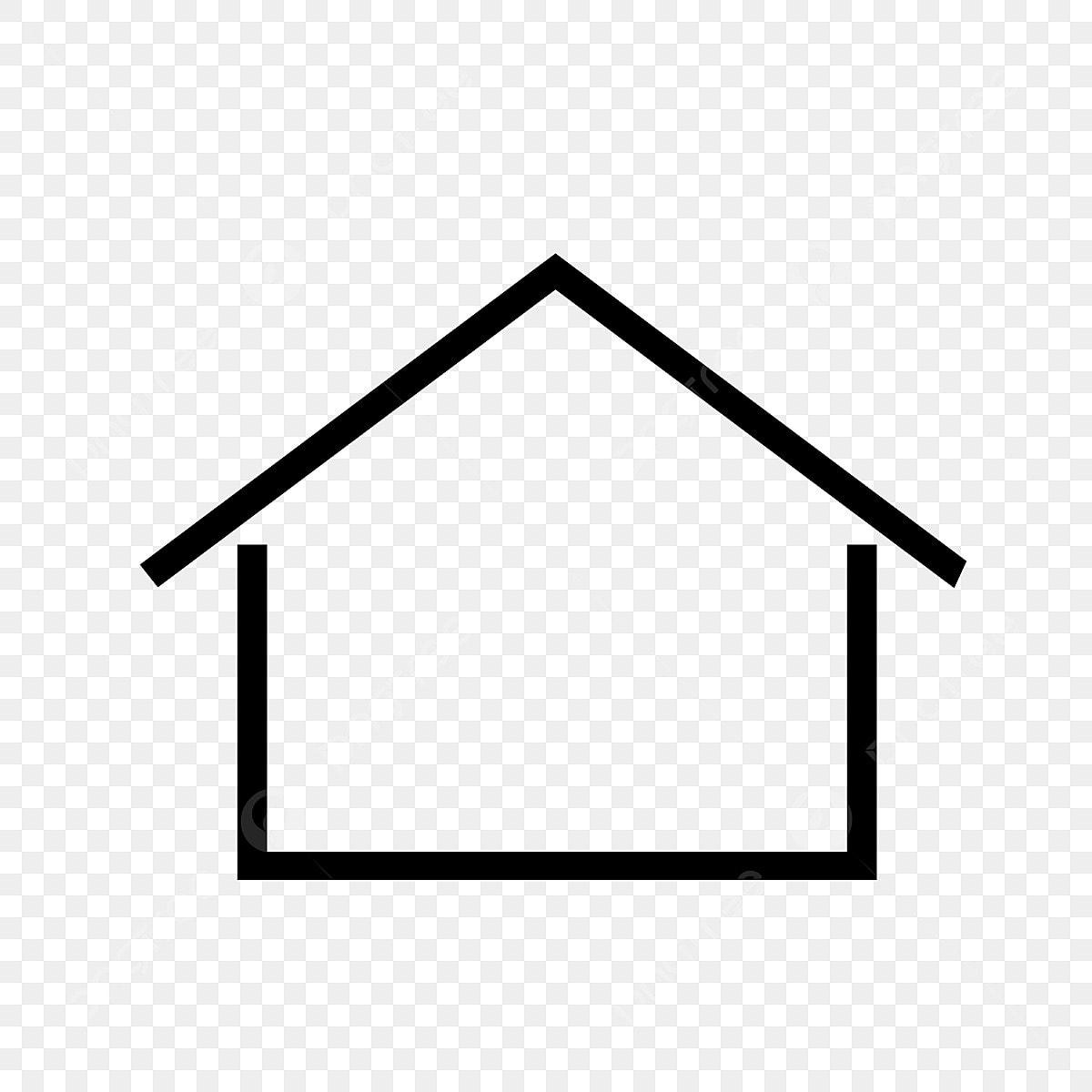 Gambar Ikon Rumah Simbol Sederhana Rumah Ikon Simbol Png Dan Vektor Untuk Muat Turun Percuma