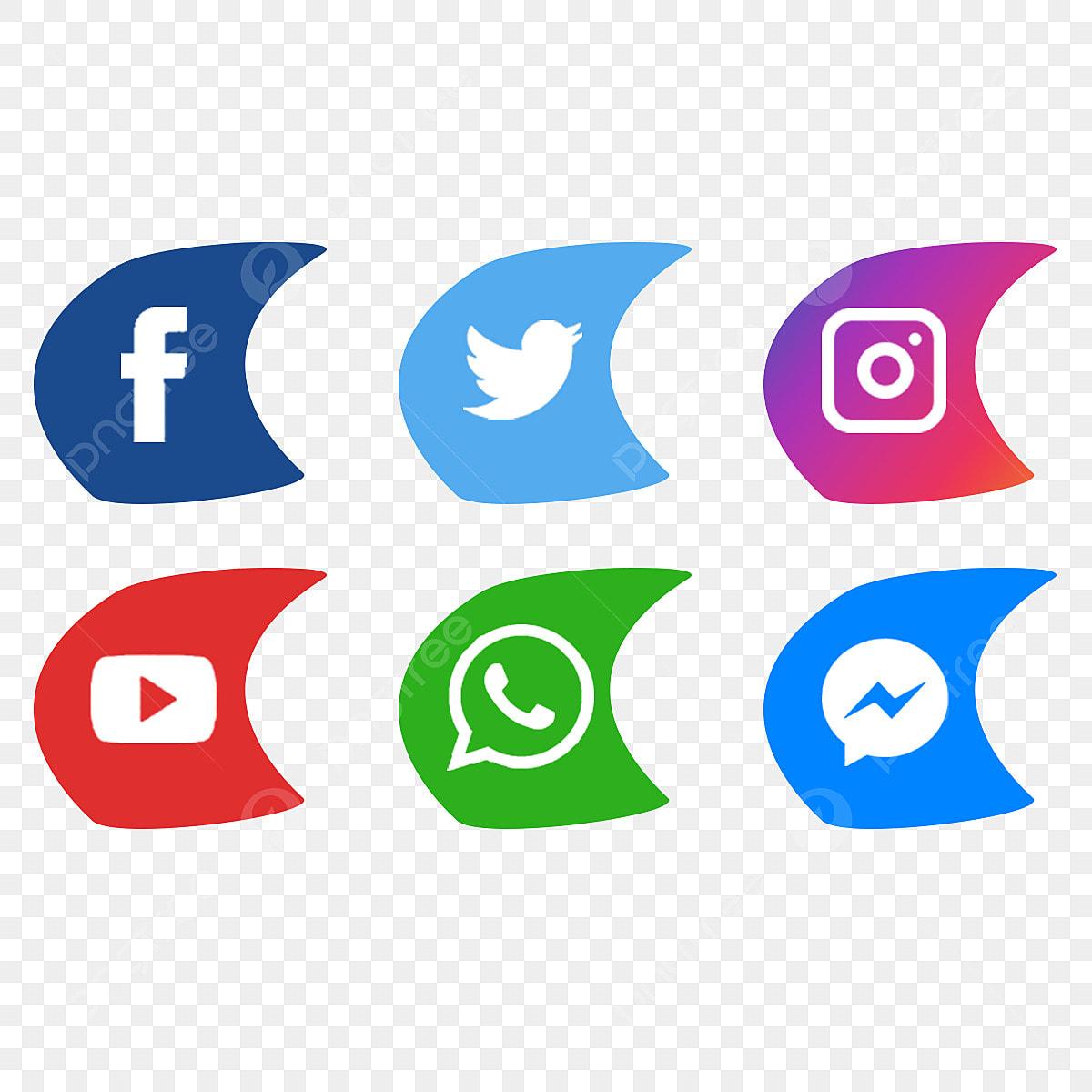 أيقونات أيقونات موقع التواصل الاجتماعي الفيسبوك تويتر Png وملف Psd للتحميل مجانا