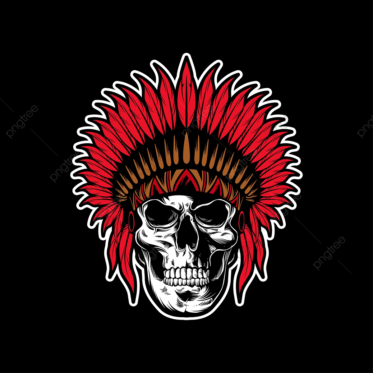 9a15a3225 Upgrade to Premium plan and get license authorization.UpgradeNow · Indianan skull  vector ...