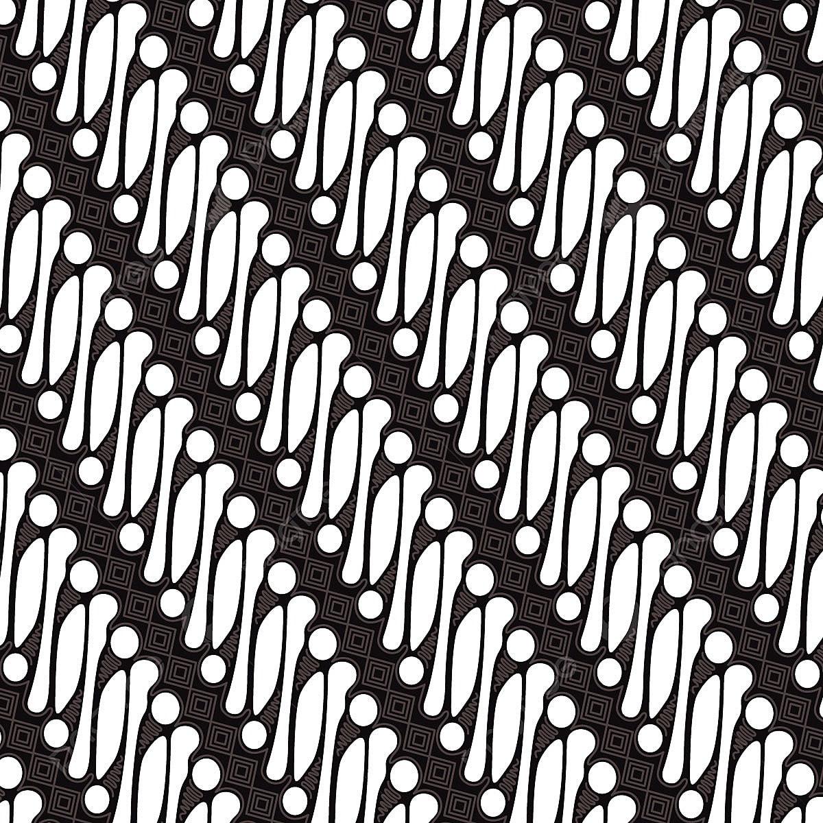 Indonesian Parang Batik Pattern Free Vector, Textile