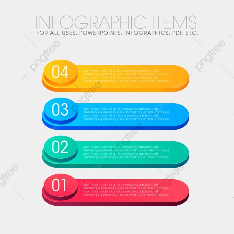 Info Graphic Items For All Purpose, 3d, Abstract, Arrow PNG