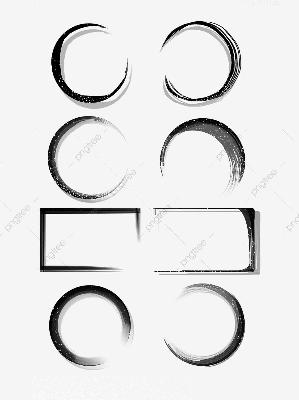 ink border round frame black  ink border  border set  ink round frame png transparent clipart