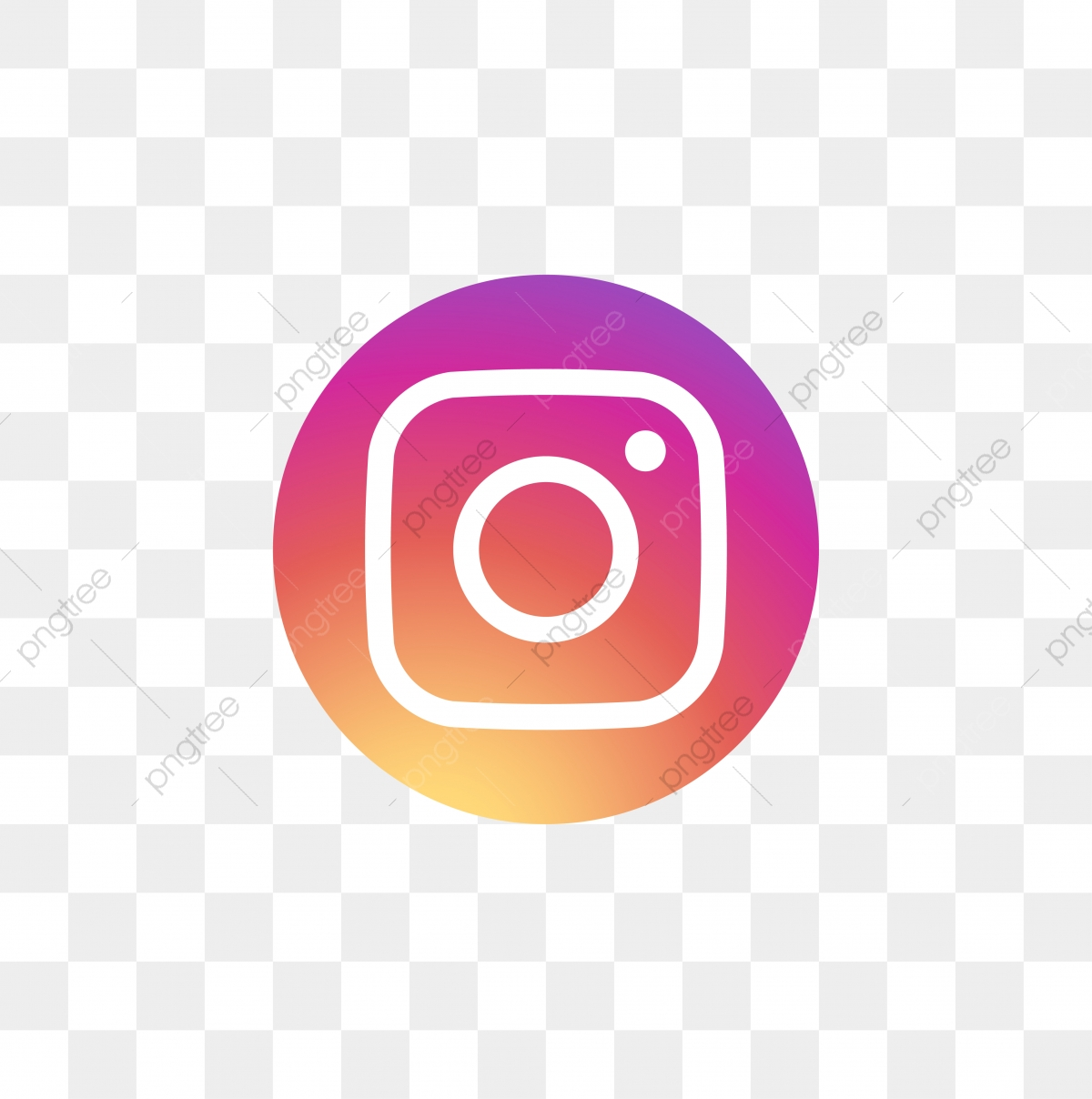 Instagram Social Media Icon Design Template Vector, Ig Icon