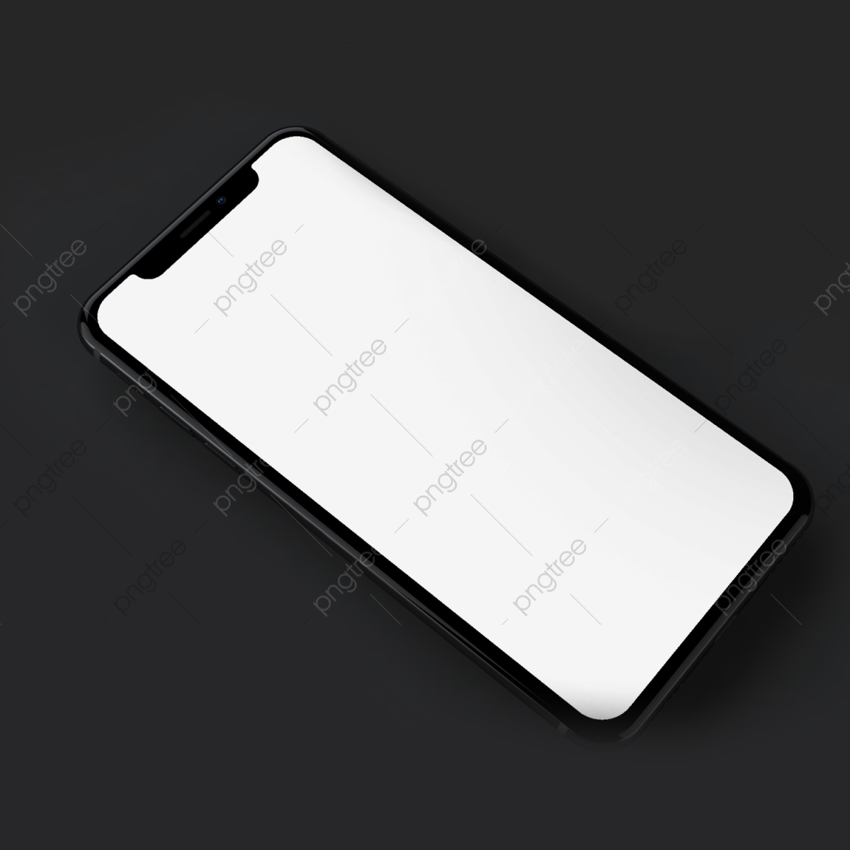 Iphone X Mockup With Black Background Mobile Phone