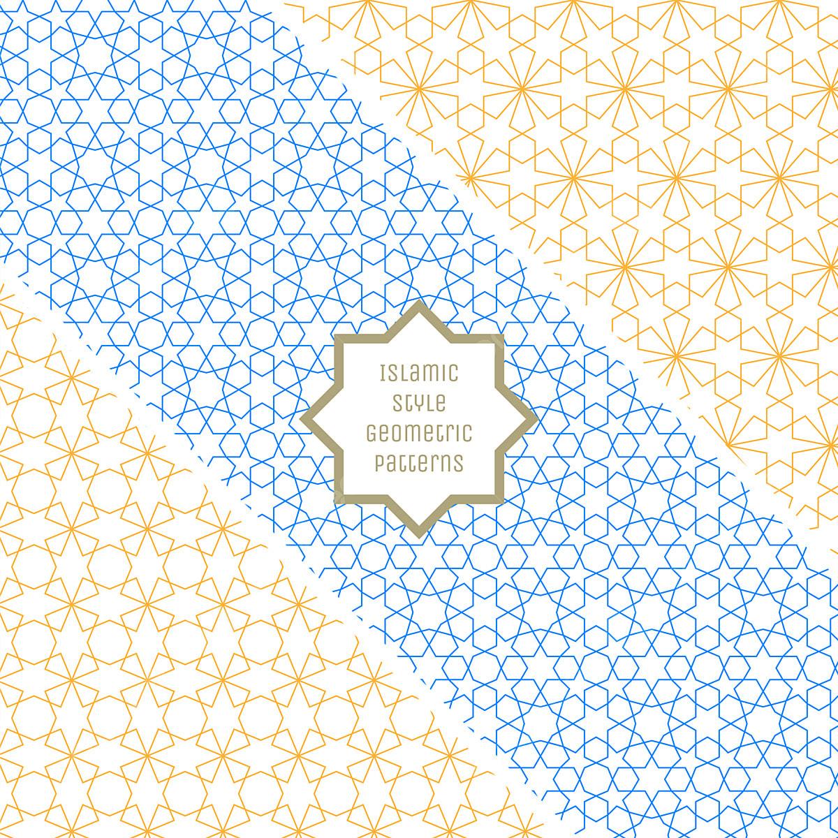 Islamic Style Seamless Geometric Patterns Collection