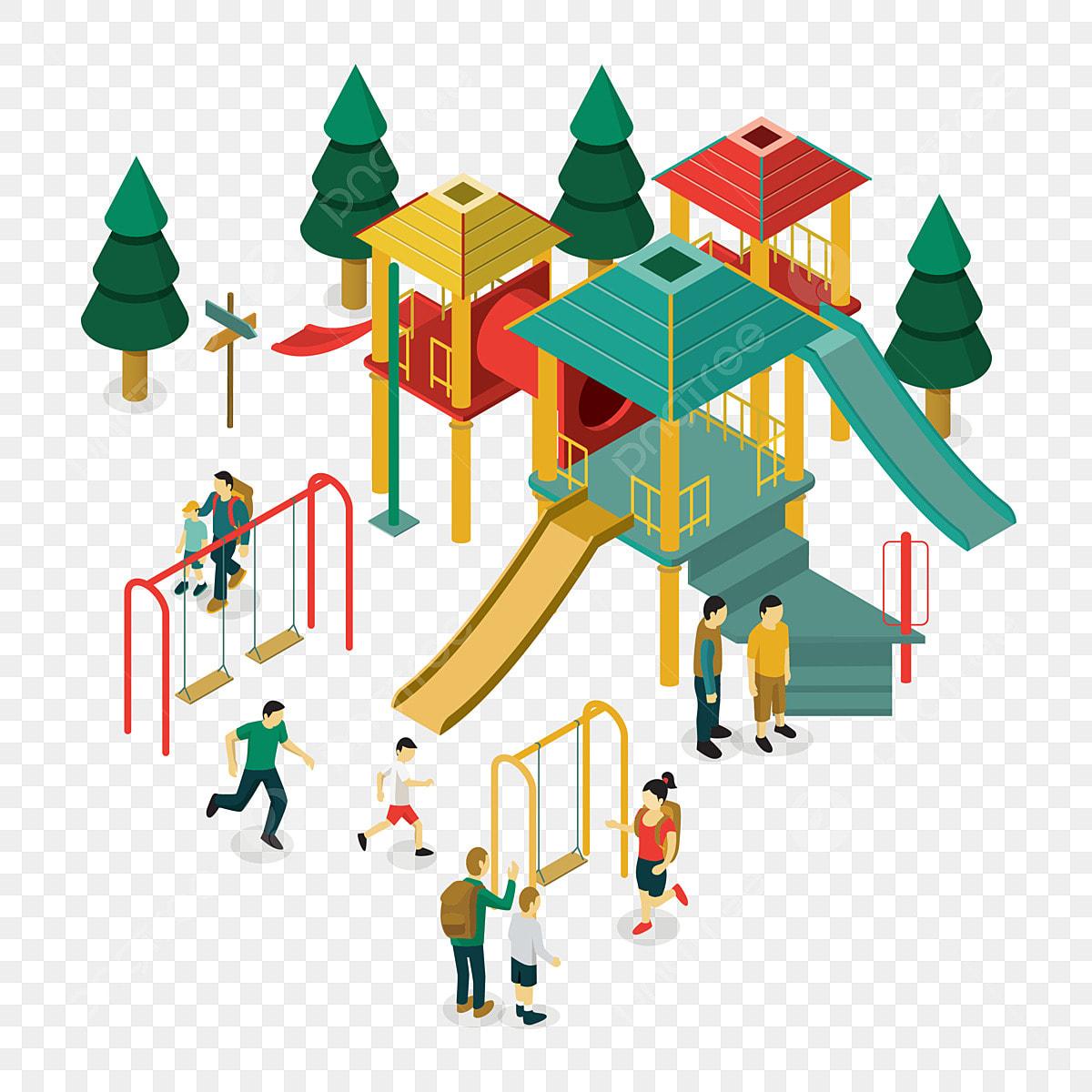 Gambar Tadika Taman Permainan Kartun