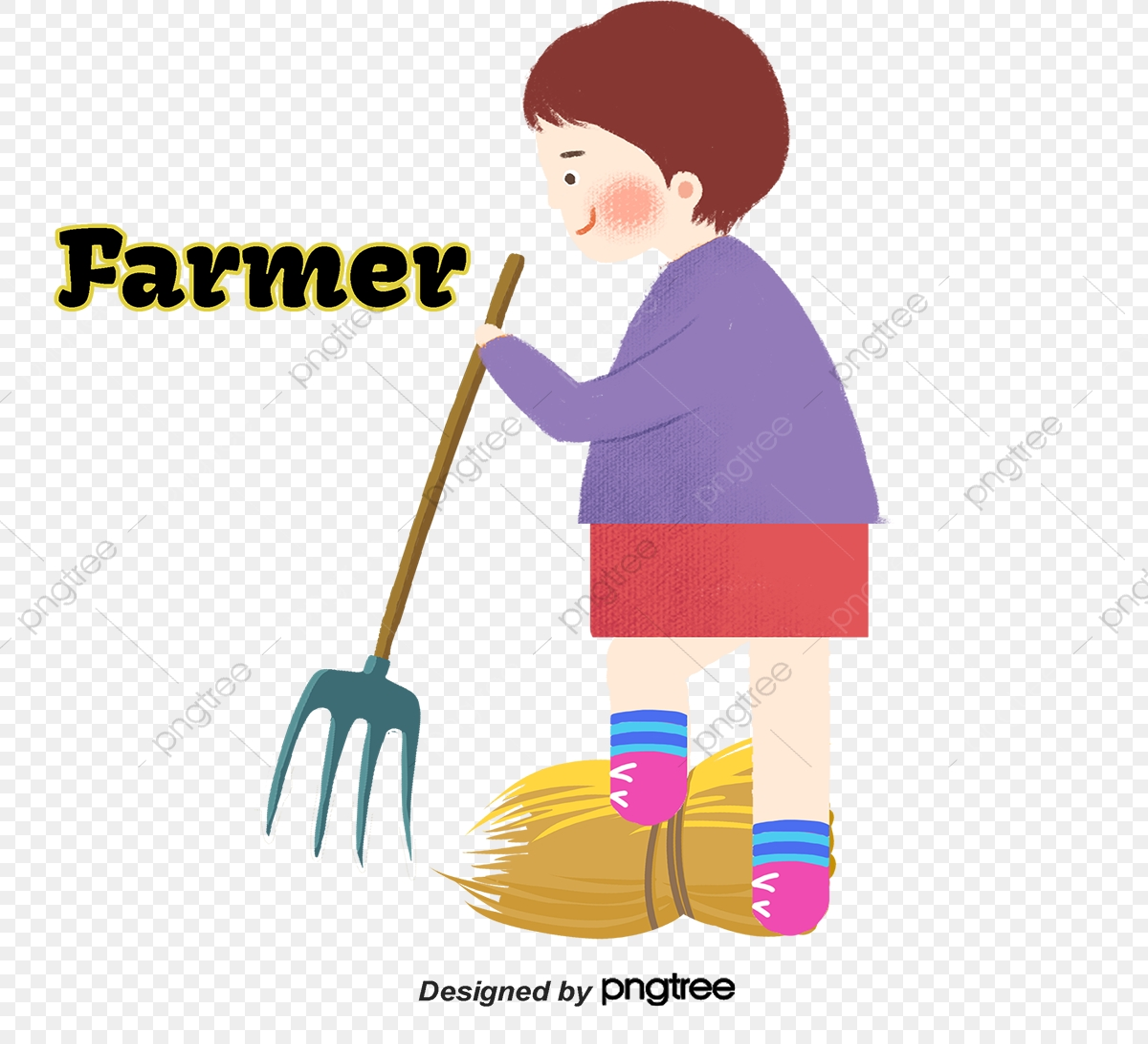 Dia Do Trabalho Tio Do Fazendeiro Dos Desenhos Animados Tio Do