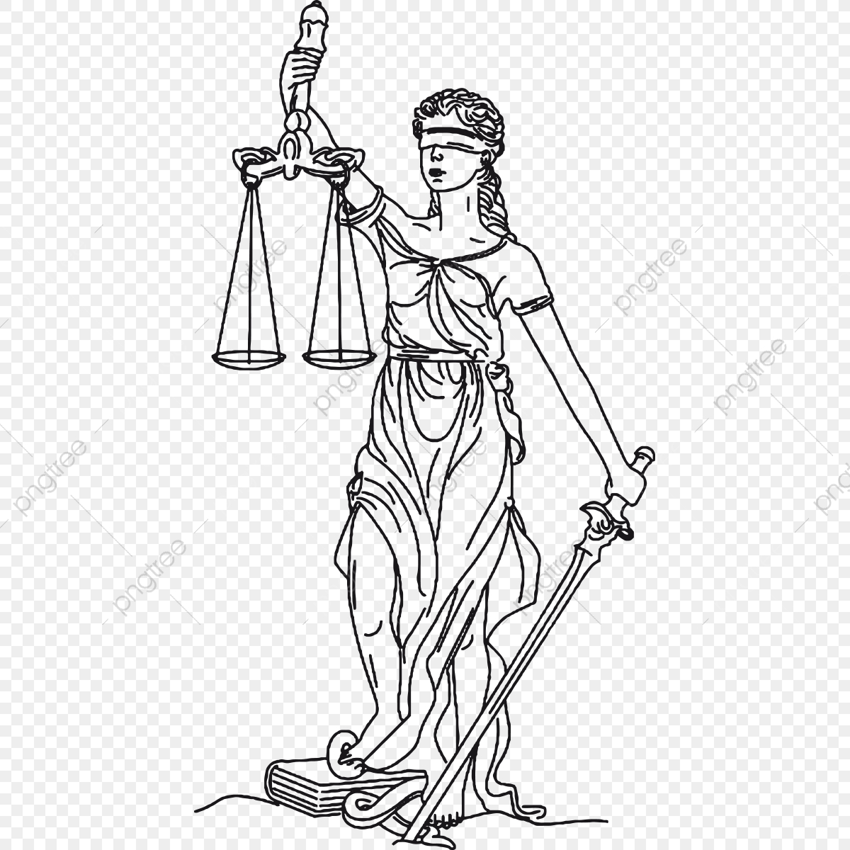 Lady Justice Eps Justice Png And Vector With Transparent