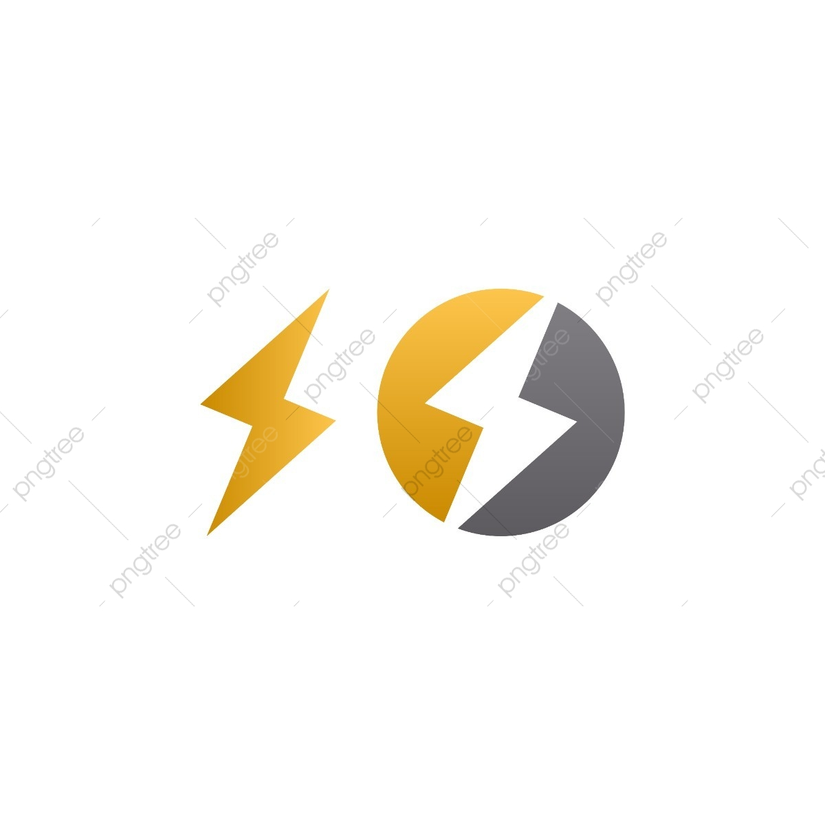 Lightning Bolt Logo Icon Element, Electricity, Lightning