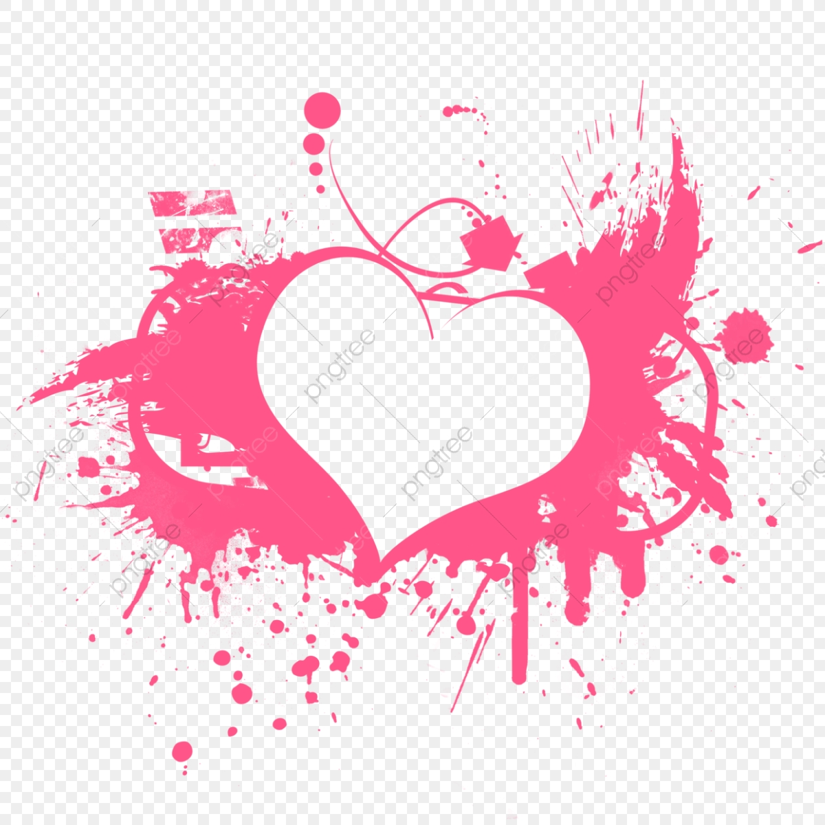 Love Pink Heart Shape Illustration, Abstract, Background, Blue PNG