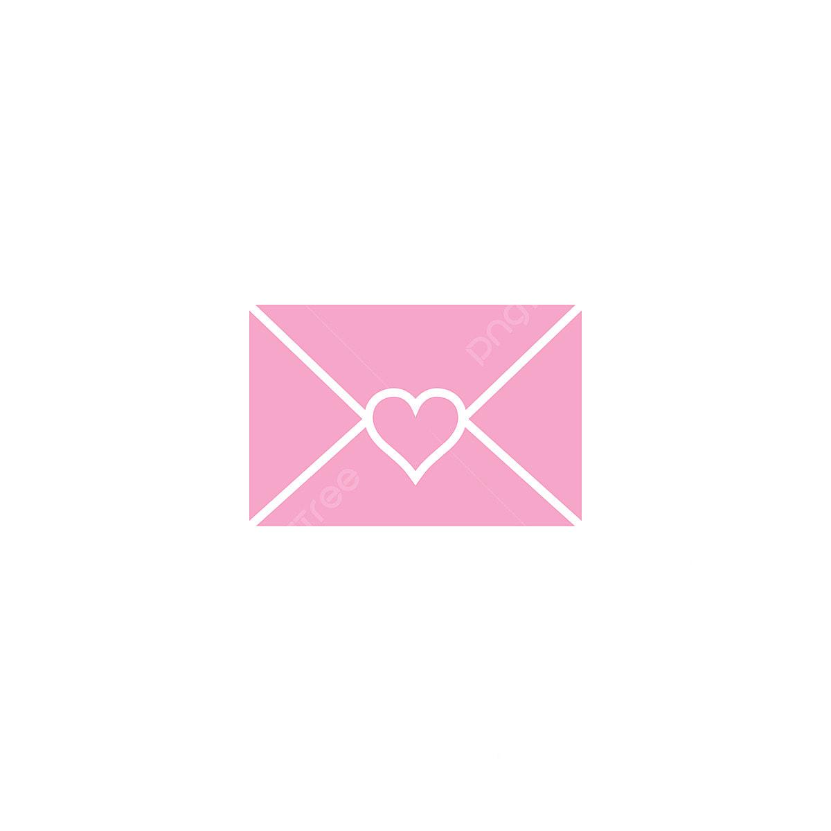 Surat Cinta Desain Grafis Template Vektor Ilustrasi Alamat