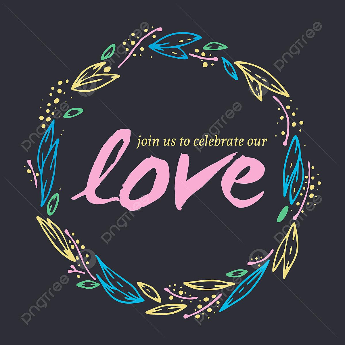 Belle Invitation De Mariage Avec Colore Couronne Fleur
