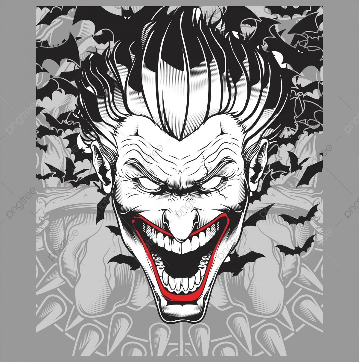 Setan Jahat Joker Tangan Lukisan Vektor Lucifer Ace Musuh Seni