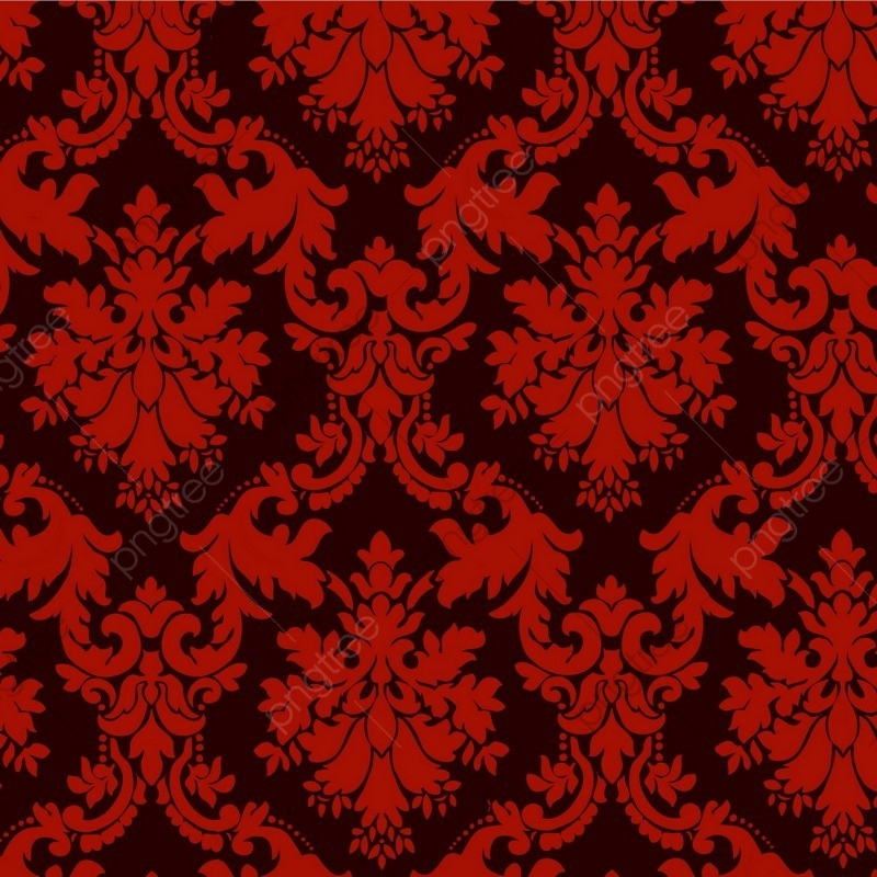 Luxury Ornamental Background Red Damask Floral Pattern Royal