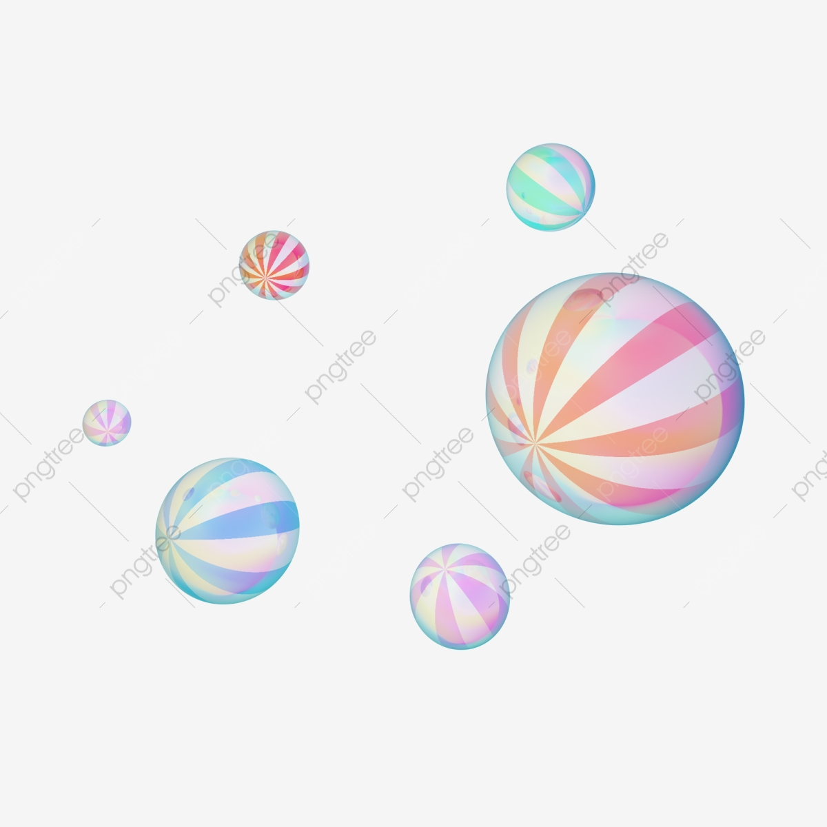 Marble C4d Macaron Wind Teenage Style Suspended Ball Decorative