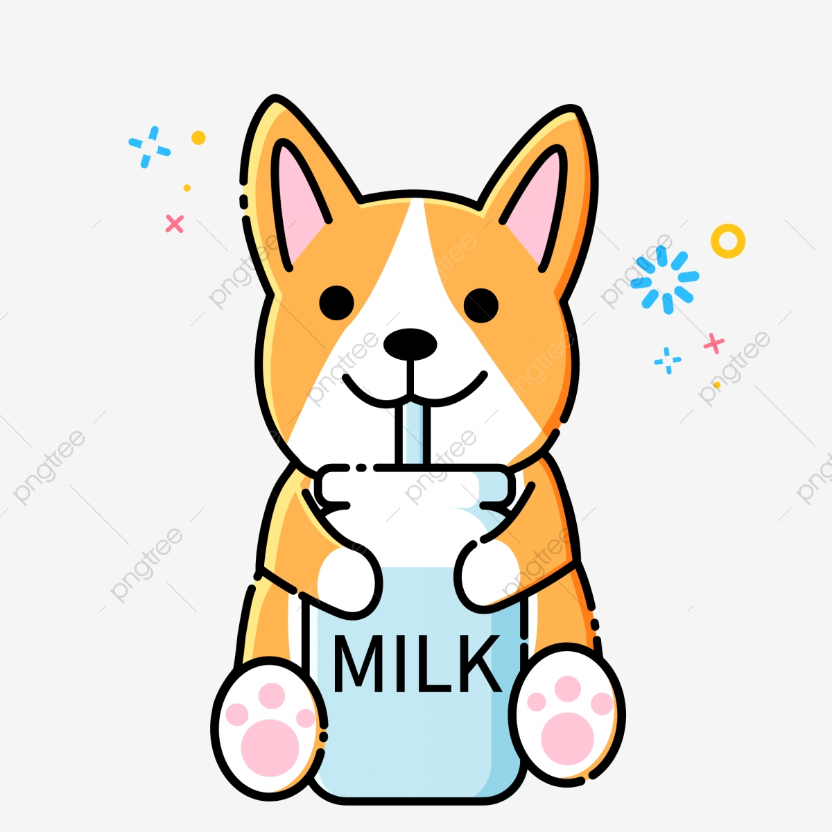 Mbe Style Cartoon Cute Dog Keji Animal Material Mbe Cartoon Animals Dog Png And Vector With Transparent Background For Free Download