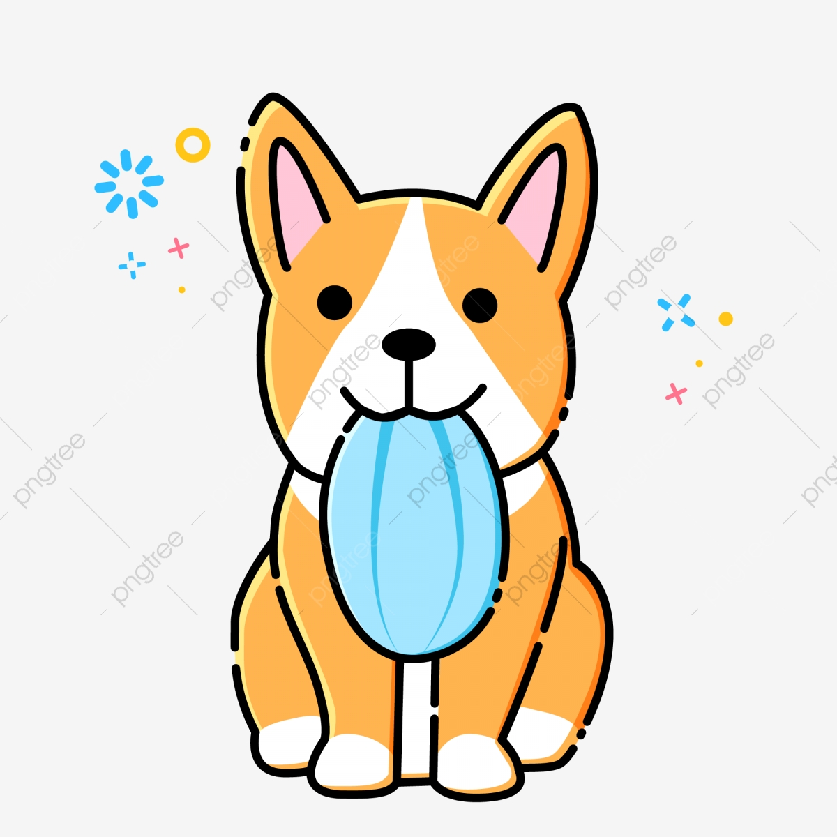 Mbe Style Cartoon Cute Dog Keji Animal Material Mbe Cute Dog Cartoon Dog Png And Vector With Transparent Background For Free Download