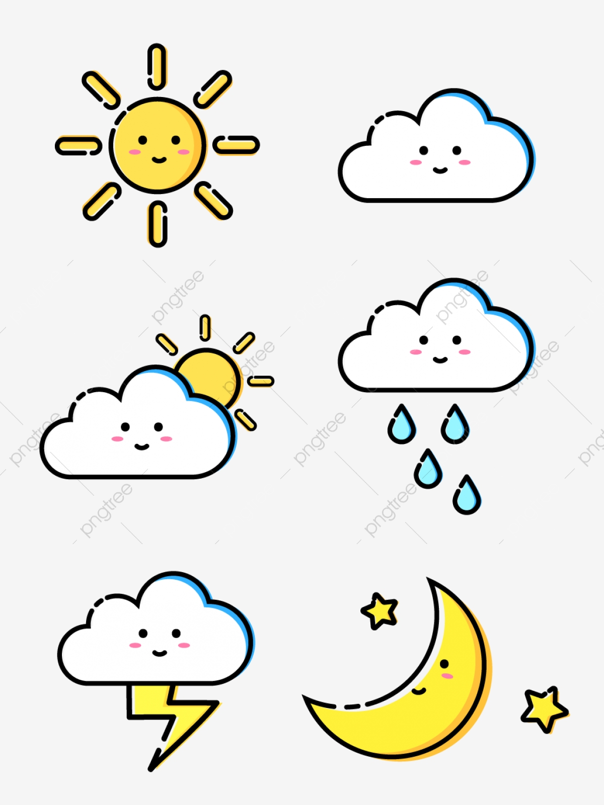 Mbe Style Simple And Cute Weather Icon For Commercial Use Mbe Mbe Icon Mbe Style Png And Vector With Transparent Background For Free Download