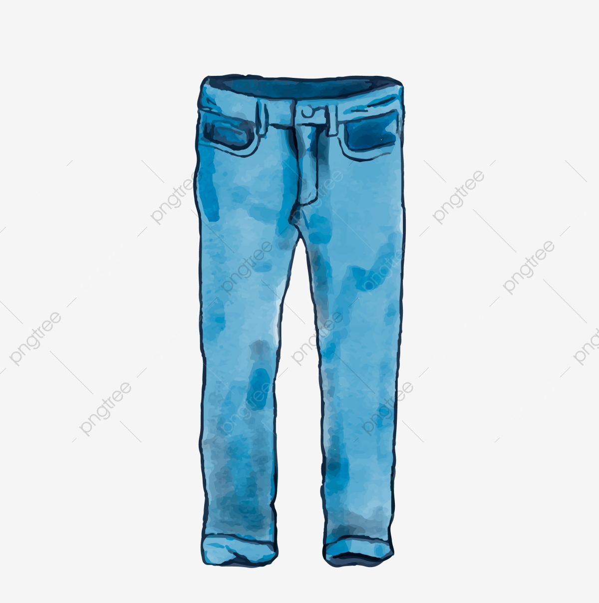 Mens Style Cartoon Cowboy Jeans Jeans Clothing Blue Blue Cowboy Png And Vector With Transparent Background For Free Download