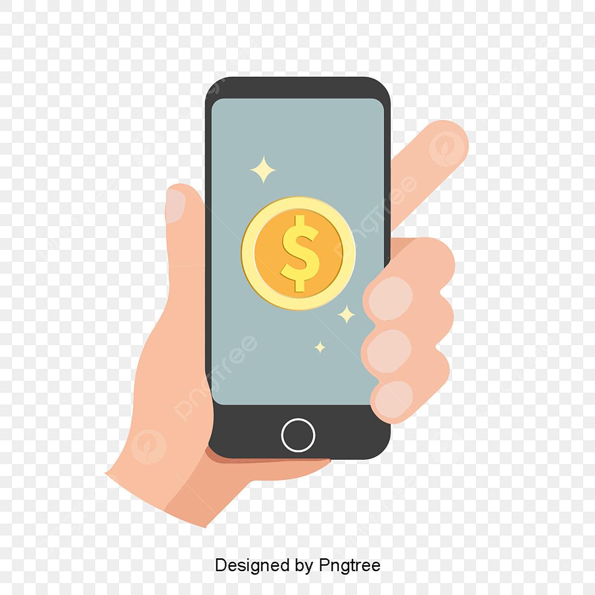 Moderno Desenho Simples Telefone Movel Receitas Elementos