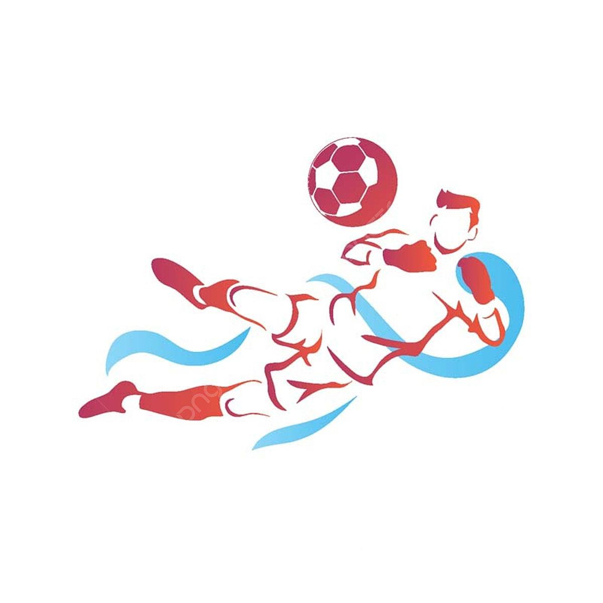 現代のサッカー選手のゴールキーパーのロゴのイラスト フットボール