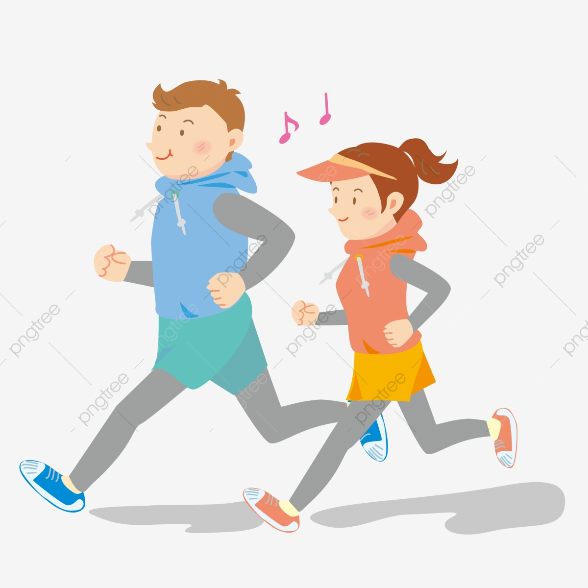 Motion Cartoon Hand Drawn Morning Run Run Healthy Running Simple Aerobic Exercise Fitness Png And Vector With Transparent Background For Free Download