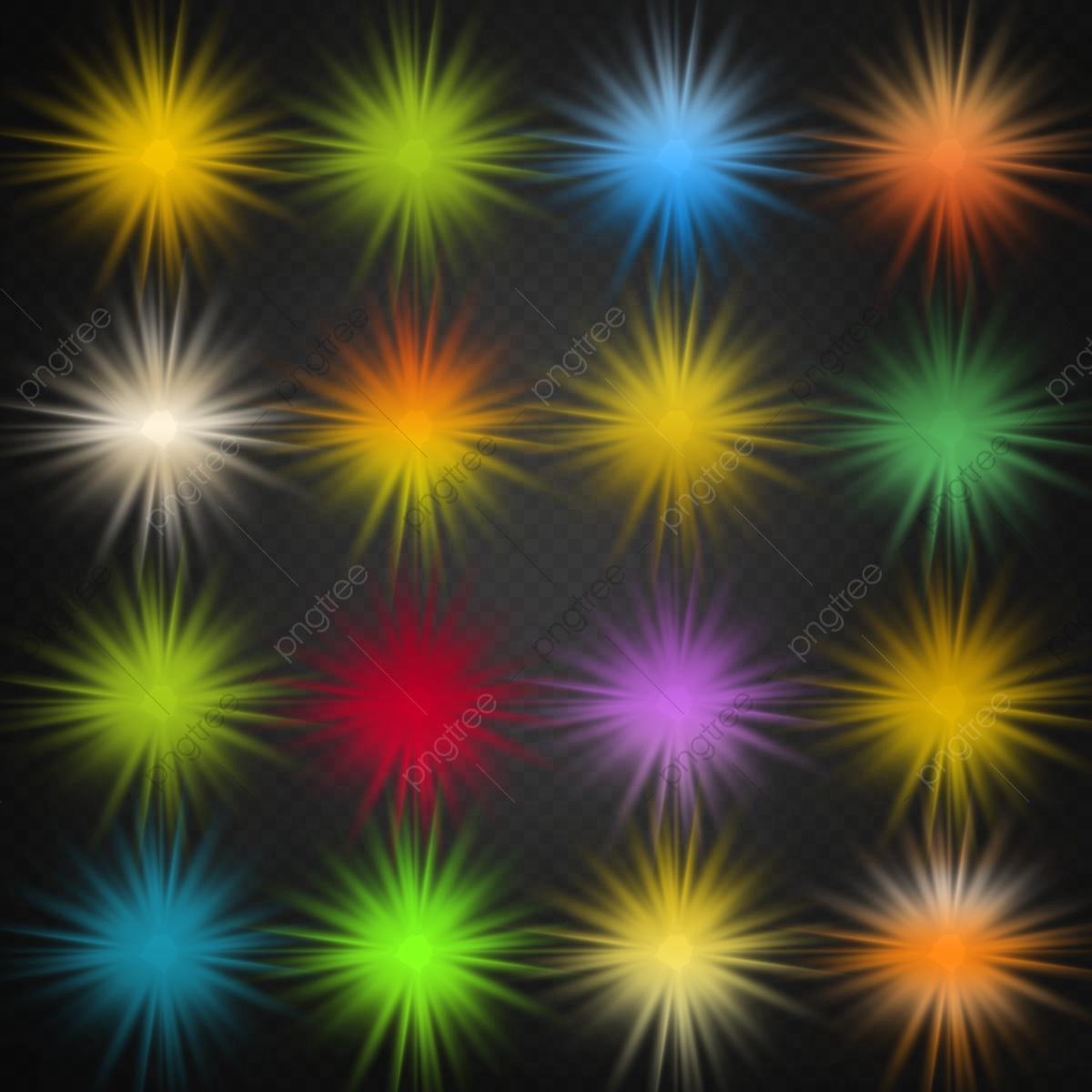 Multicolor Light Effects Packs With Glow Effects, Dots
